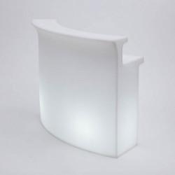 Banque d'accueil Pulse Curve, module courbe lumineux, Proselec blanc