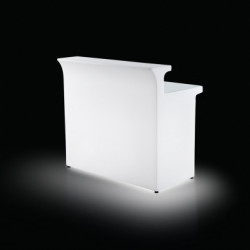 Banque d'accueil Pulse Line, module droit lumineux, Proselec blanc
