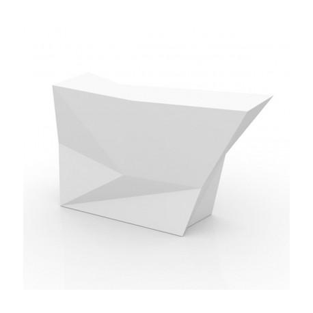 Banque d'accueil Origami, élément lateral, Proselec blanc Laqué