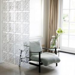 20 carrés séparations design Alice, Koziol blanc opaque