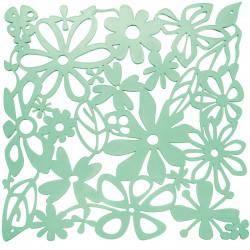 20 carrés séparations design Alice, Koziol vert menthe transparent