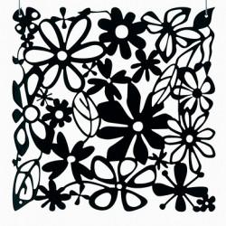 20 carrés séparations design Alice, Koziol noir opaque