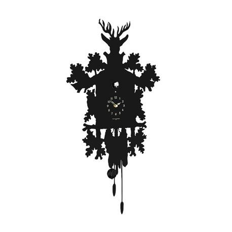 Horloge Cucù, Diamantini & Domeniconi noir laqué