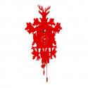 Horloge Cucù, Diamantini & Domeniconi rouge laqué
