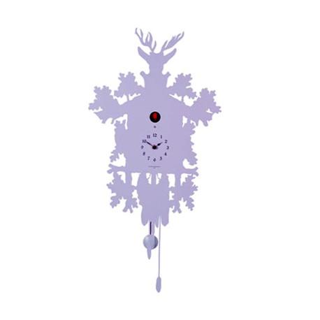 Horloge Cucù, Diamantini & Domeniconi violet lilas laqué