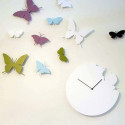 Horloge Butterfly, Diamantini & Domeniconi blanc laqué