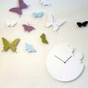 Horloge Butterfly, Diamantini & Domeniconi bleu ciel laqué