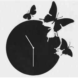 Horloge Butterfly, Diamantini & Domeniconi noir laqué
