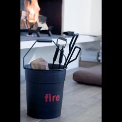 Accessoires de cheminée Fire Tools, Eno noir