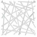20 carrés séparations design Stixx, Koziol blanc