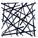 20 carrés séparations design Stixx, Koziol noir opaque