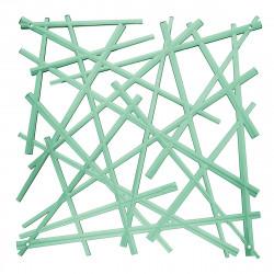 20 carrés séparations design Stixx, Koziol vert menthe transparent