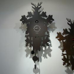 Horloge Cucù, Diamantini & Domeniconi wengé, marron foncé
