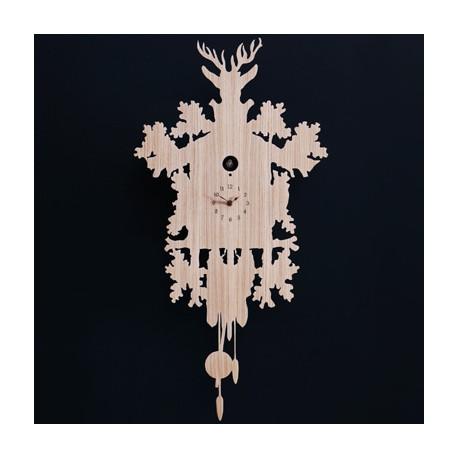 Horloge Cucù, Diamantini & Domeniconi bois clair, beige sable