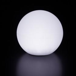 Lampe d\'extérieur Globo Out , Slide Design blanc Diamètre 80 cm