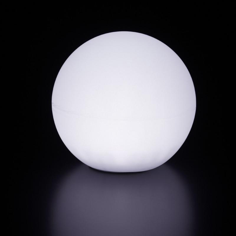lampe d 39 ext rieur globo out slide design blanc diam tre 80 cm cerise sur la deco. Black Bedroom Furniture Sets. Home Design Ideas