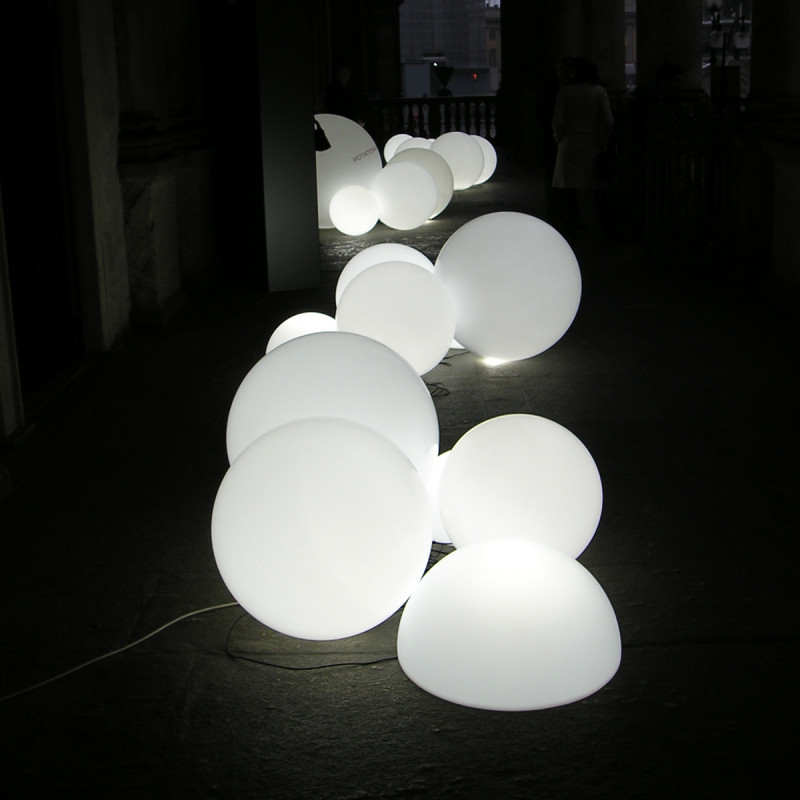 Lampe D 39 Ext Rieur Globo Out Slide Design Blanc Diam Tre