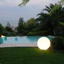 Lampe d'extérieur Globo Out , Slide Design blanc Diamètre 80 cm