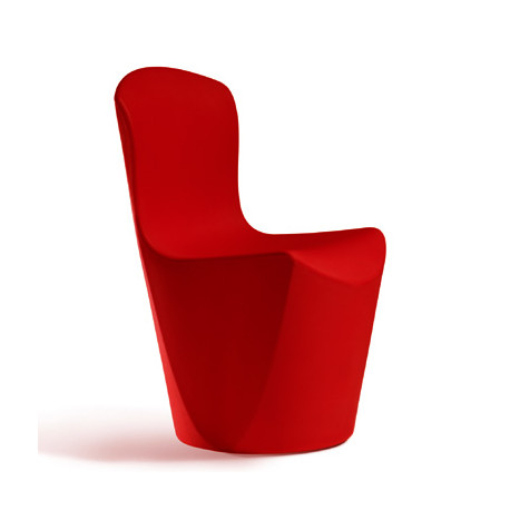 Chaise Zoe, Slide Design rouge