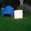 Tabouret lumineux Cubo Out, Slide Design blanc 43 cm