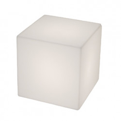 Tabouret lumineux Cubo Out, Slide Design blanc 50 cm