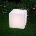 Tabouret lumineux Cubo Out, Slide Design blanc 50 cm