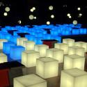 Tabouret lumineux Cubo Out, Slide Design blanc 75 cm