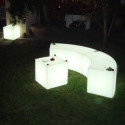 Tables lumineuse Cubo Out, Slide Design blanc 75 cm