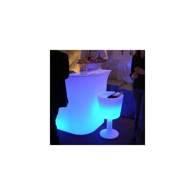 seau champagne lumineux drink slide design blanc. Black Bedroom Furniture Sets. Home Design Ideas