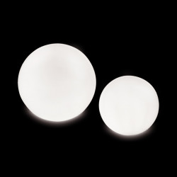 Lampe globe d\'intérieur Globo In, Slide Design blanc Diamètre 80 cm