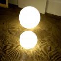 Lampe globe d'intérieur Globo In, Slide Design blanc Diamètre 80 cm