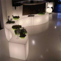 Table/Banc design Snake In, Slide Design blanc