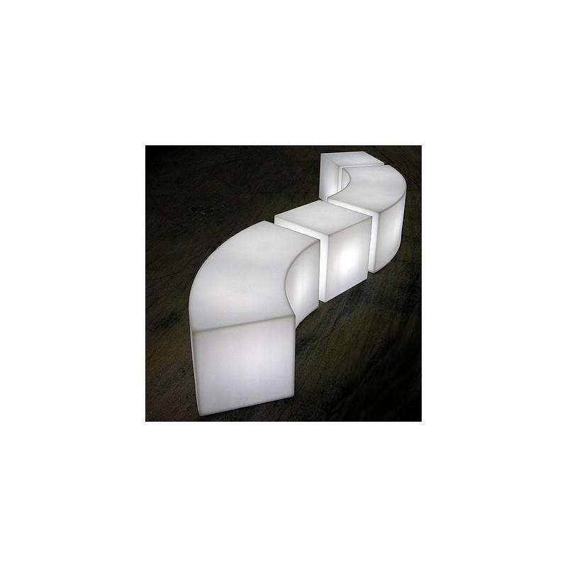 table banc design snake in slide design blanc cerise sur la deco. Black Bedroom Furniture Sets. Home Design Ideas