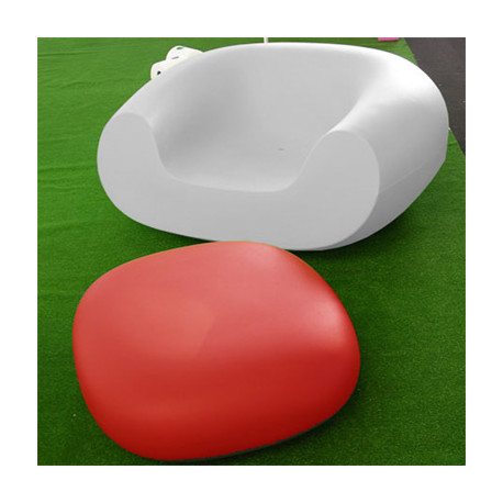 Table basse Chubby Low, Slide Design rouge