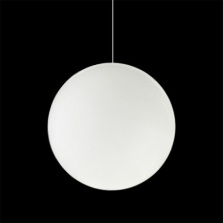 Lampe Globo Hanging Out, Slide Design blanc Diamètre 80 cm