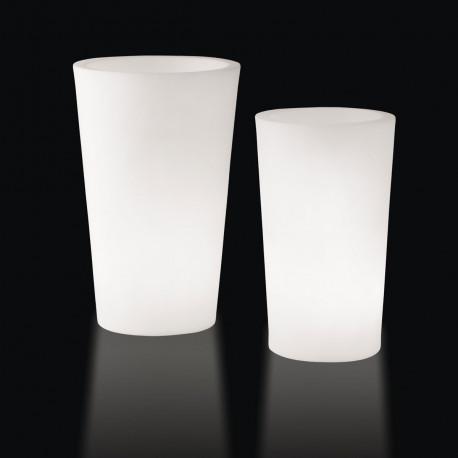 Grand X-pot lumineux, Slide Design blanc Hauteur 83 cm
