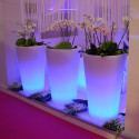 Grand X-pot lumineux, Slide Design blanc Hauteur 120 cm