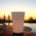 Grand X-pot lumineux, Slide Design blanc Hauteur 135 cm