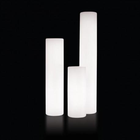colonne lumineuse cilindro out slide design blanc diam tre 40 cm cerise sur la deco. Black Bedroom Furniture Sets. Home Design Ideas