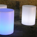 Colonne lumineuse Cilindro Out, Slide Design blanc Diamètre 130 cm