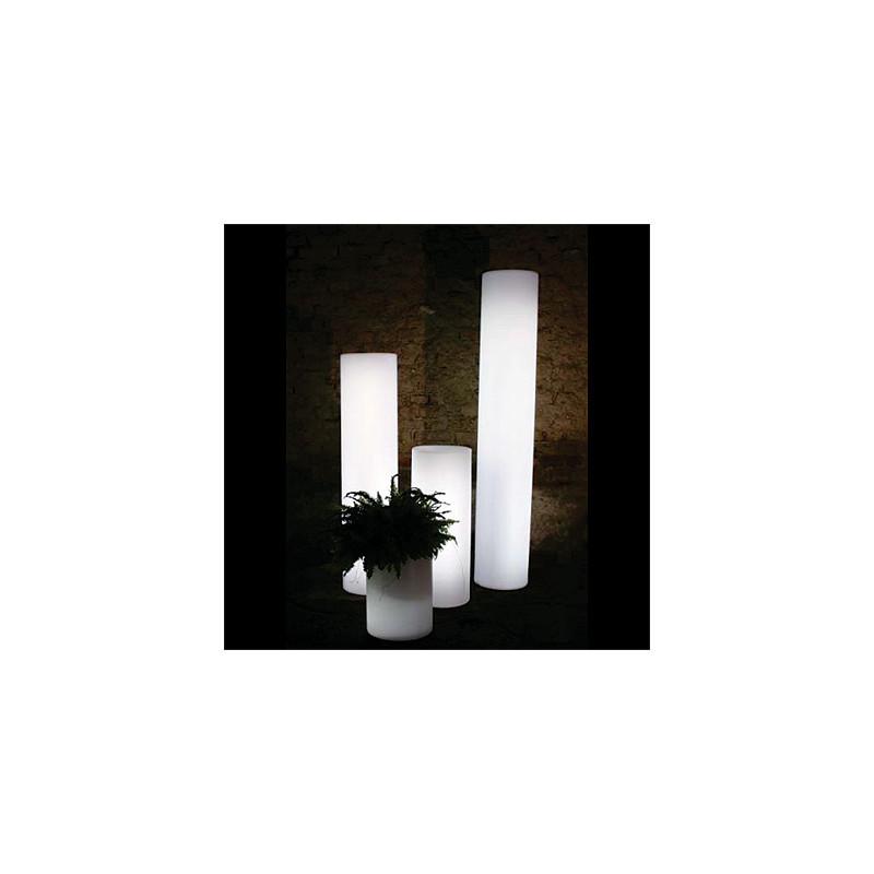 colonne lumineuse fluo in slide design blanc hauteur 40 cm cerise sur la deco. Black Bedroom Furniture Sets. Home Design Ideas