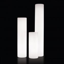 Colonne lumineuse Fluo In, Slide Design blanc, Hauteur 80 cm