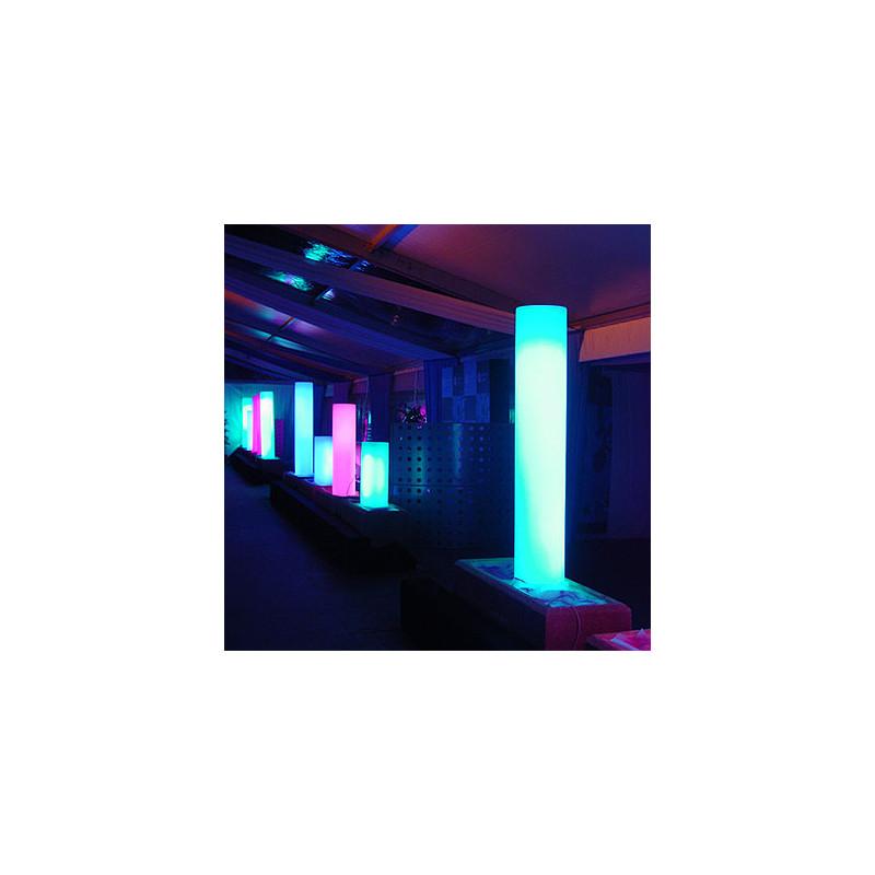 colonne lumineuse fluo in slide design blanc hauteur 80. Black Bedroom Furniture Sets. Home Design Ideas