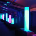 Colonne lumineuse Fluo In, Slide Design blanc, Hauteur 170 cm