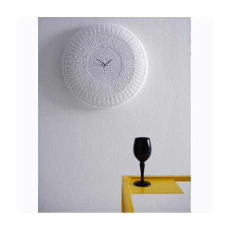 Horloge Coton Gomitolo diamantini & domeniconi, blanc
