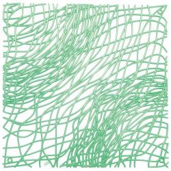 20 carrés séparations design Silk, Koziol vert menthe transparent