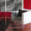 20 carrés séparations design Silk, Koziol noir opaque