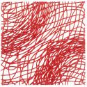 20 carrés séparations design Silk, Koziol rouge transparent