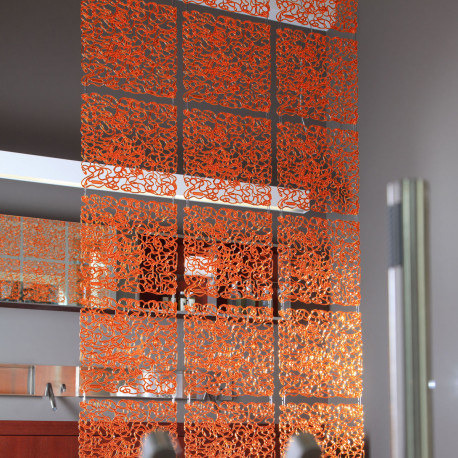 20 carrés séparations design Fusion, Koziol orange transparent