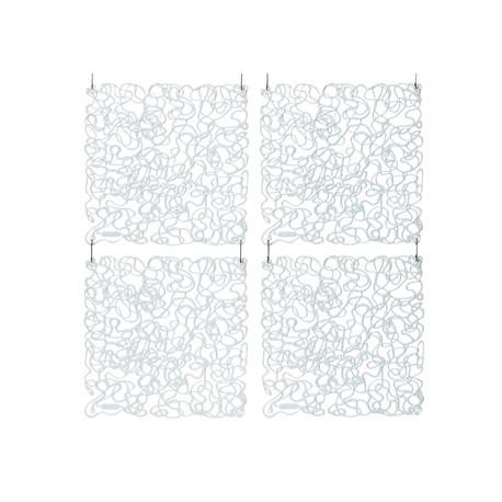 20 carrés séparations design Fusion, Koziol cristal transparent
